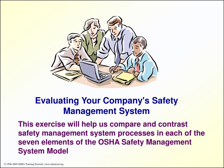 Evaluating Your Company's Safety Management System