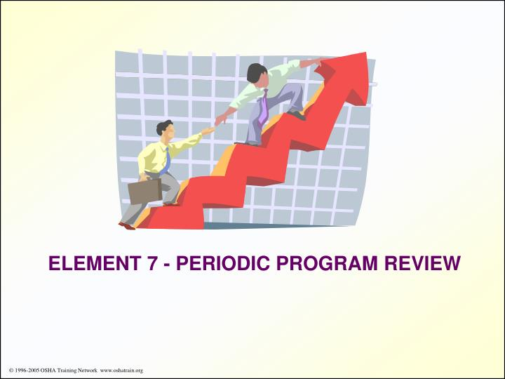ELEMENT 7 - PERIODIC PROGRAM REVIEW