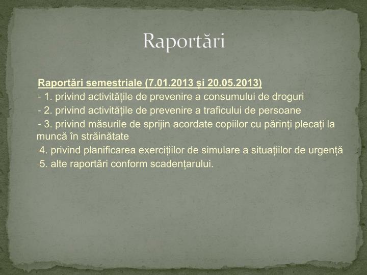 Raportări