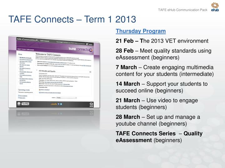 TAFE Connects – Term 1 2013