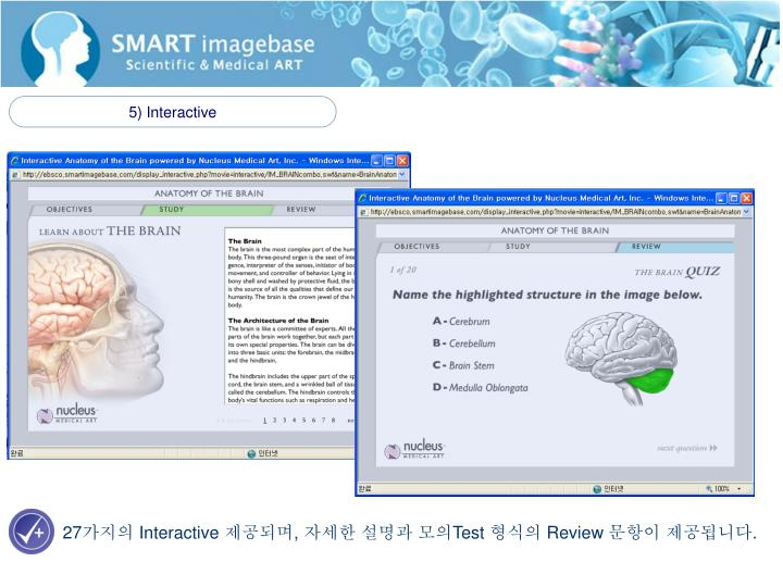 5) Interactive