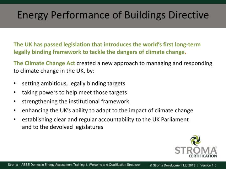 Energy Performance of Buildings Directive