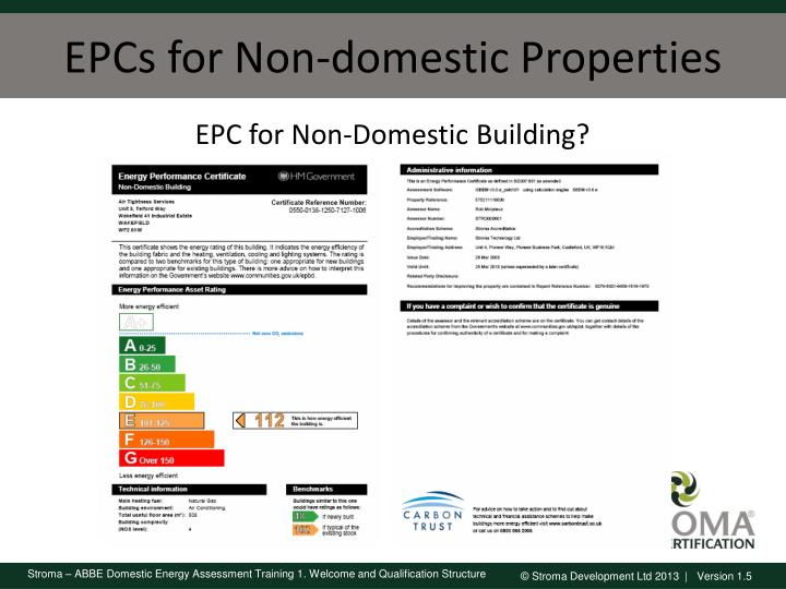 EPCs for Non-domestic Properties