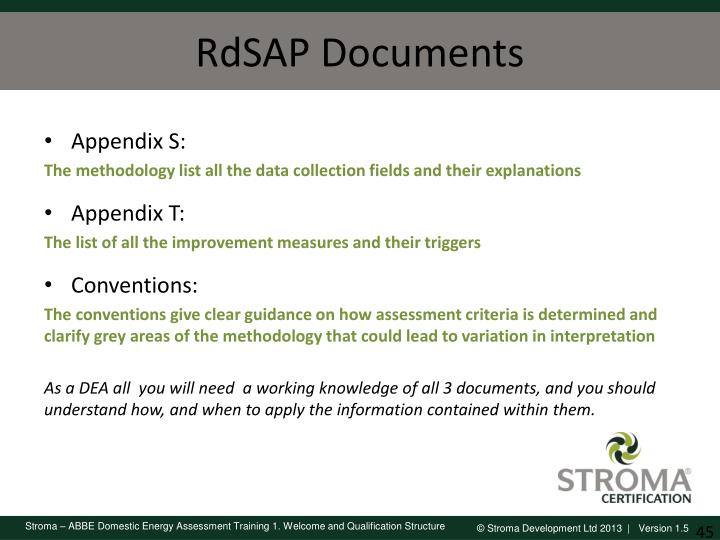 RdSAP Documents