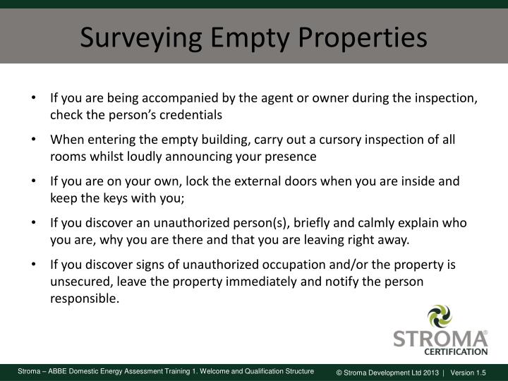 Surveying Empty Properties