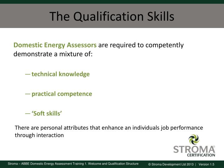 The Qualification Skills