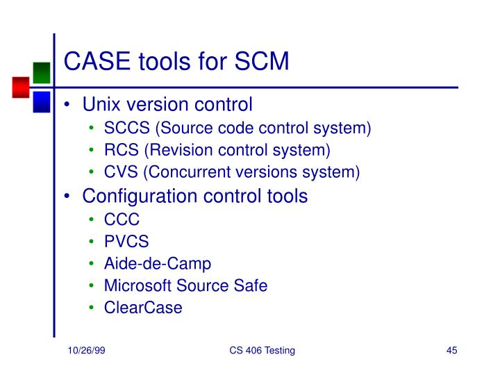 CASE tools for SCM