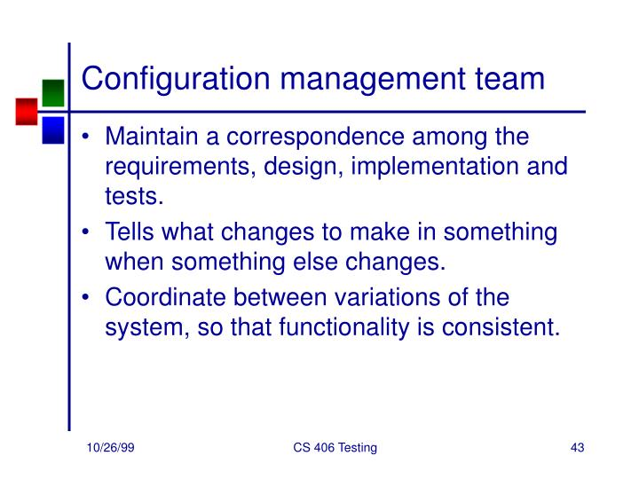 Configuration management team