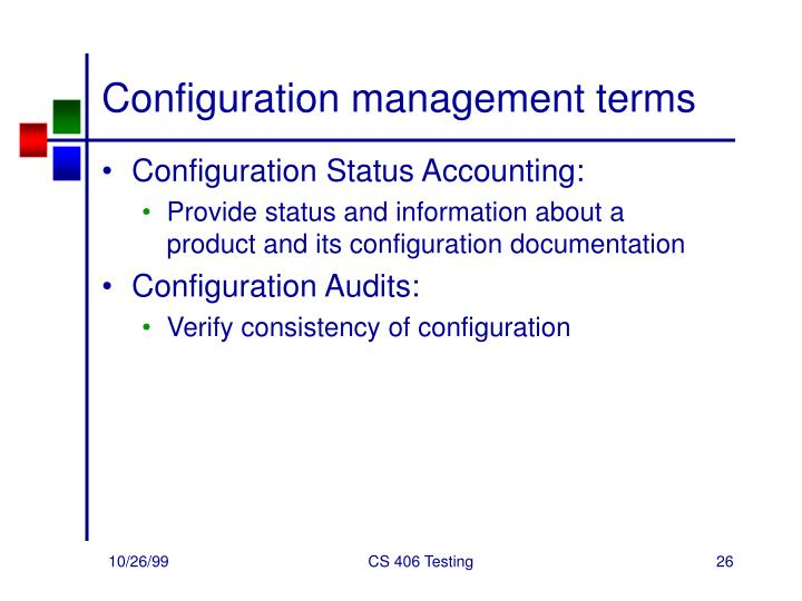 Configuration management terms