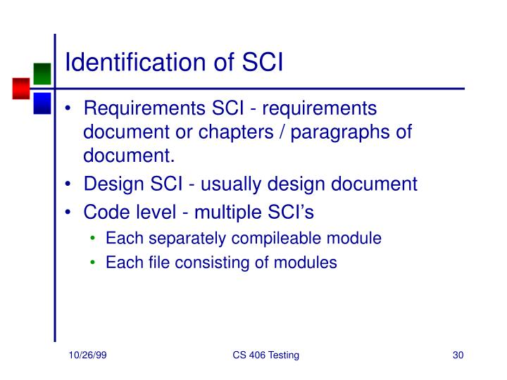 Identification of SCI