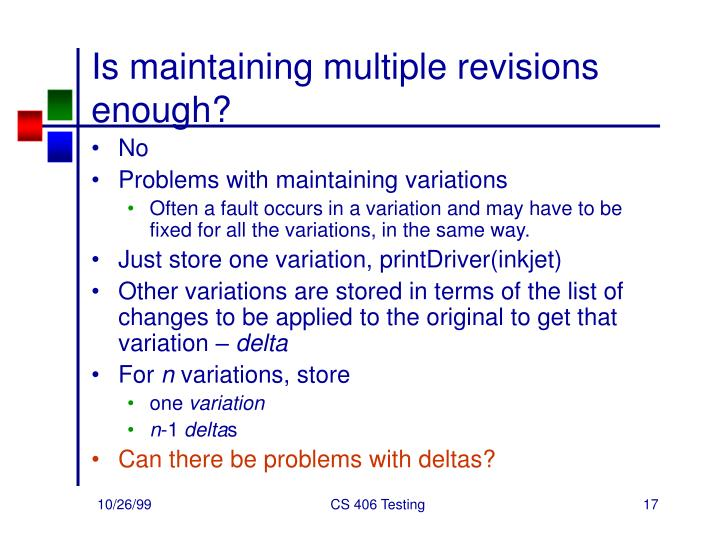 Is maintaining multiple revisions enough?