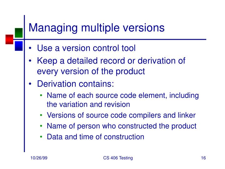 Managing multiple versions