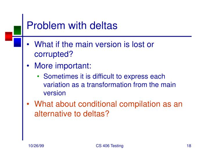 Problem with deltas