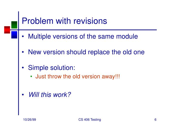 Problem with revisions