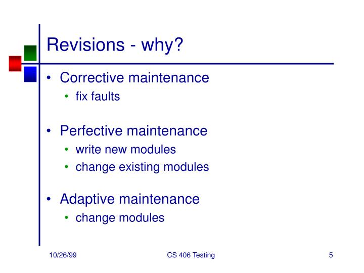 Revisions - why?