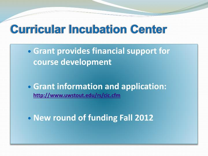 Curricular Incubation Center