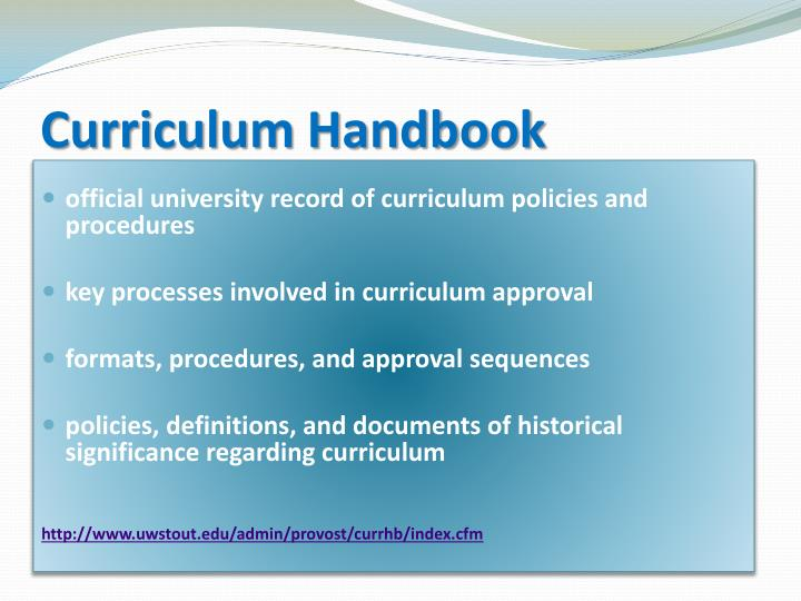Curriculum Handbook