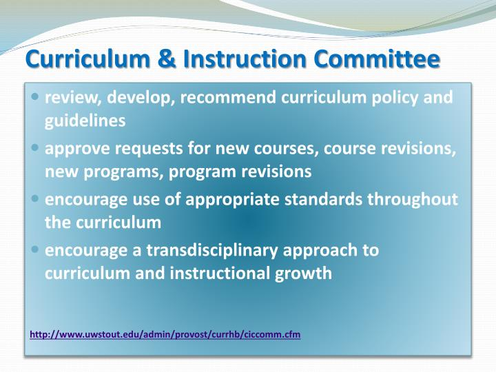 Curriculum & Instruction Committee