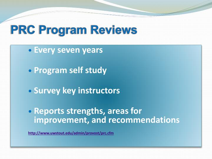 PRC Program Reviews