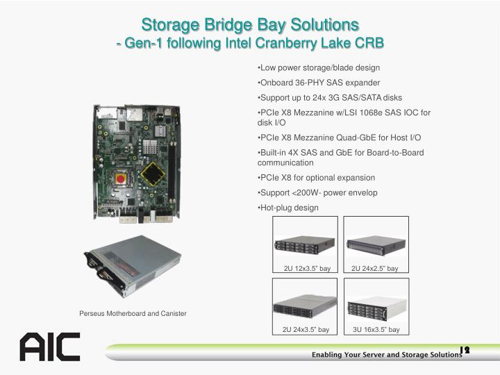 Storage Bridge Bay Solutions