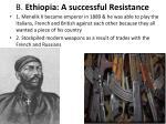 b ethiopia a successful resistance