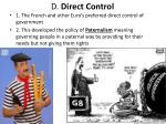 d direct control