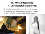 iii african resistance a unsuccessful movements
