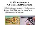 iii african resistance a unsuccessful movements1