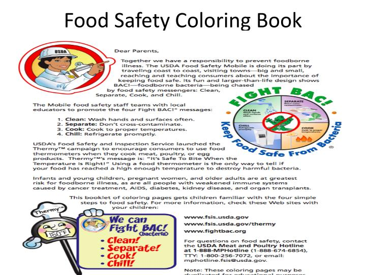 Food Safety Coloring Book