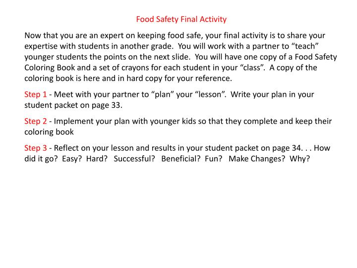 Food Safety Final Activity