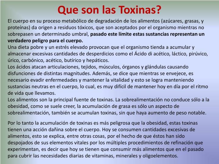 Que son las Toxinas?