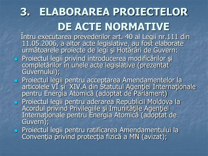 ELABORAREA PROIECTELOR