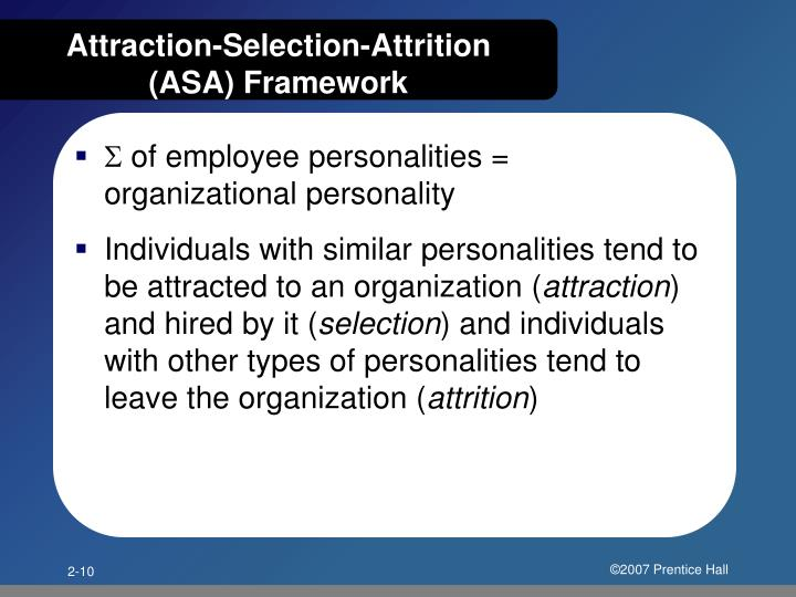 Attraction-Selection-Attrition (ASA) Framework