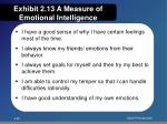 exhibit 2 13 a measure of emotional intelligence