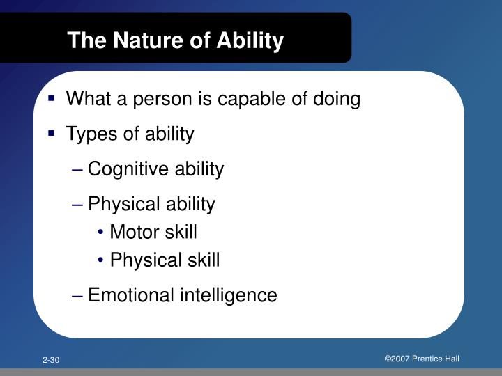 The Nature of Ability