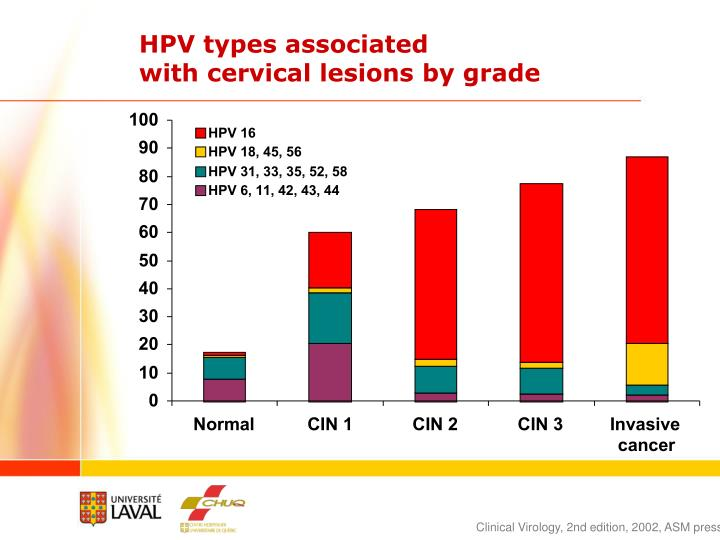 HPV types associated