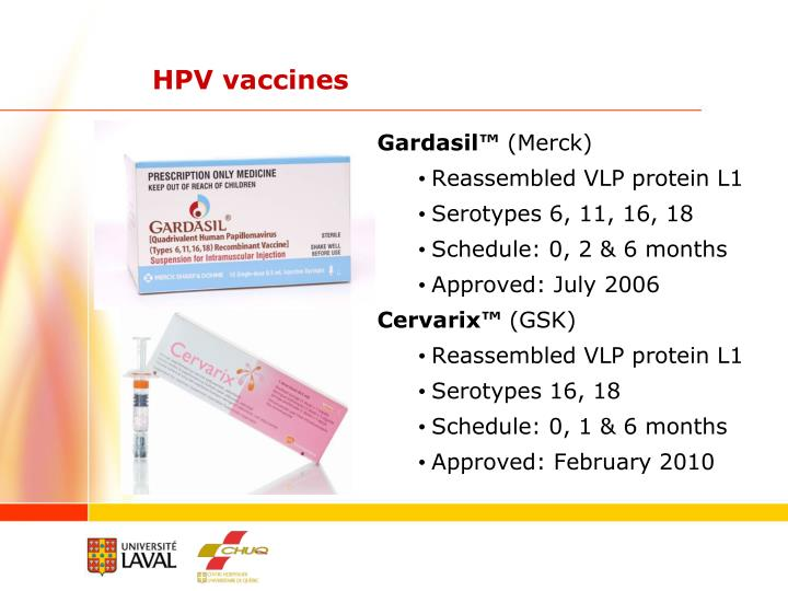 HPV vaccines