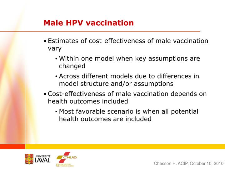 Male HPV vaccination