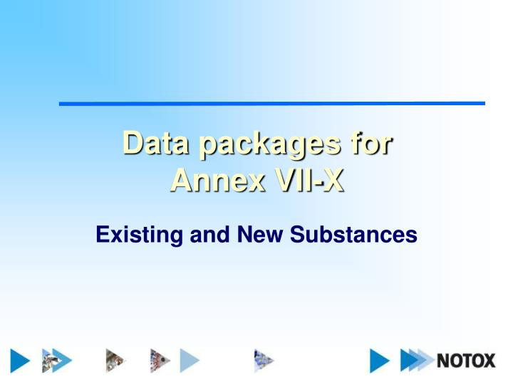 Data packages for