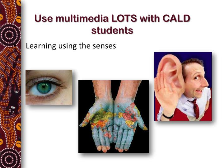 Use multimedia LOTS with CALD students