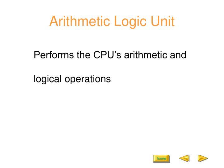 Arithmetic Logic Unit