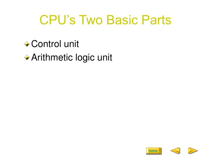 CPU's Two Basic Parts