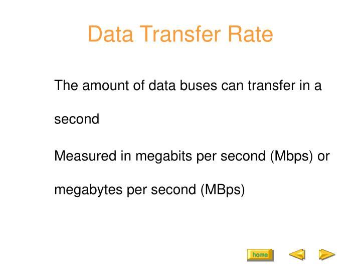 Data Transfer Rate