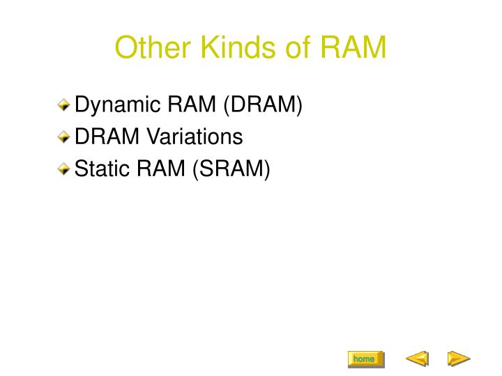 Other Kinds of RAM