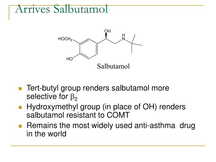 Arrives Salbutamol