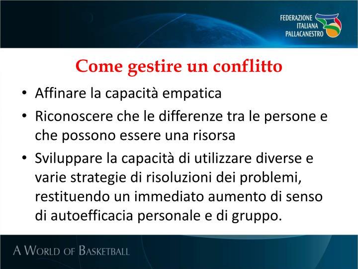 Come gestire un conflitto