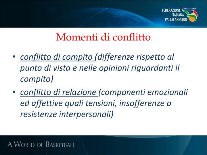 Momenti di conflitto