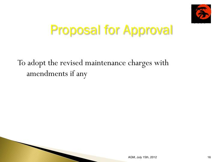 Proposal for Approval