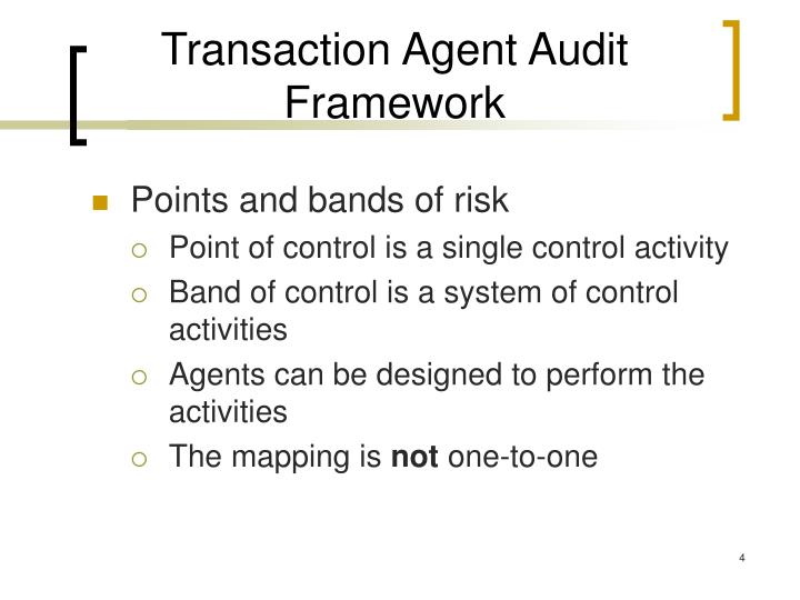 Transaction Agent Audit Framework