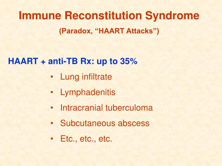 Immune Reconstitution Syndrome